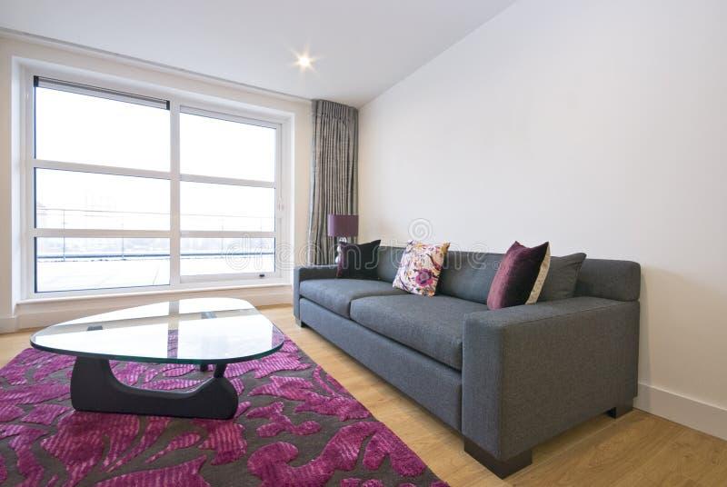 Salle de séjour moderne avec des meubles de créateur photo stock