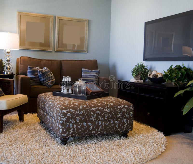 Salle de séjour moderne de invitation photo libre de droits