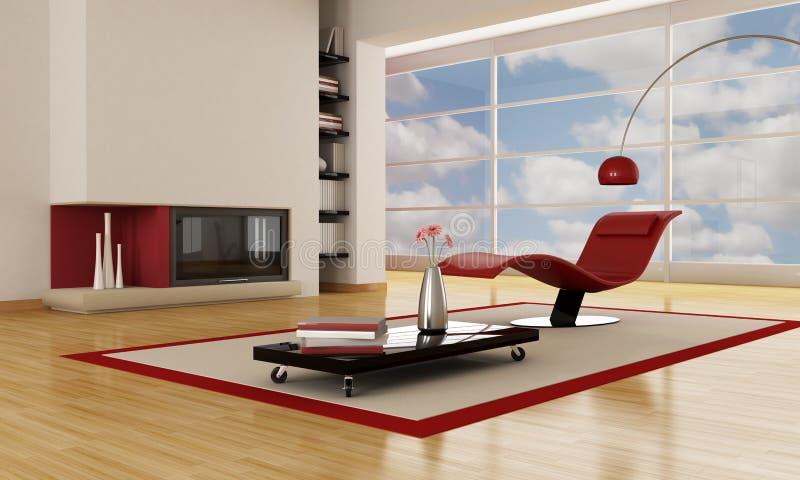 Salle de séjour moderne de luxe illustration de vecteur
