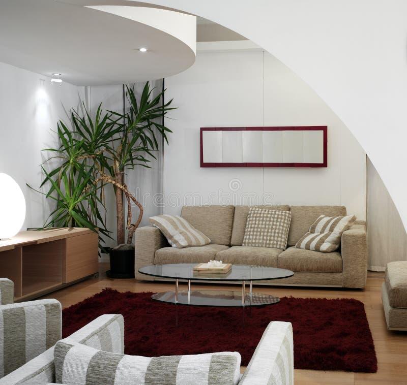 Salle de séjour moderne de luxe images libres de droits