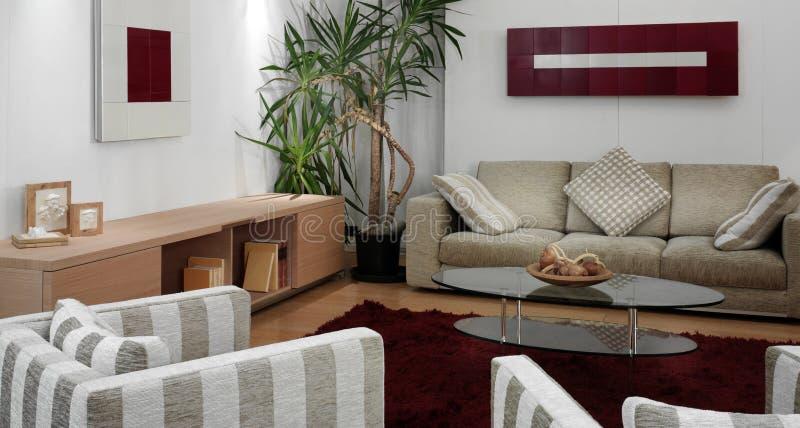 Salle de séjour moderne de luxe photographie stock libre de droits