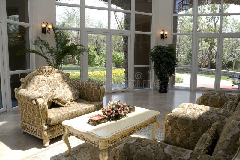 Salle de séjour moderne de luxe photographie stock