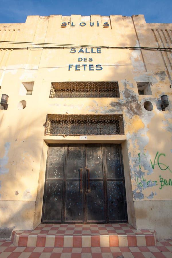 Salle DES-fêtes von St. Louis, Senegal lizenzfreies stockfoto