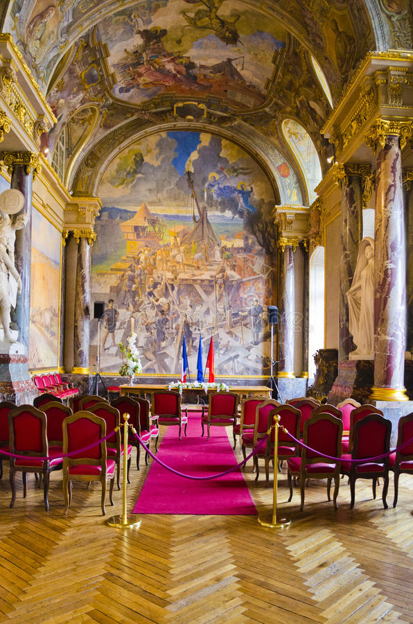 Salle des Illustres obrazy stock