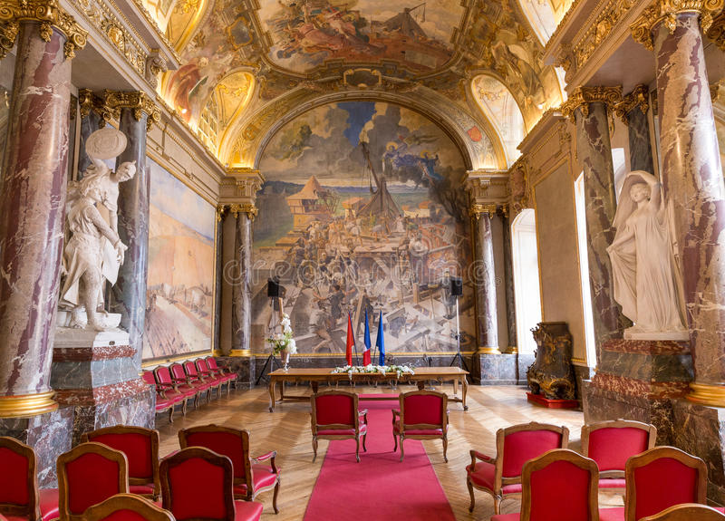 Salle des Illustres in Capitole Toulouse stock fotografie
