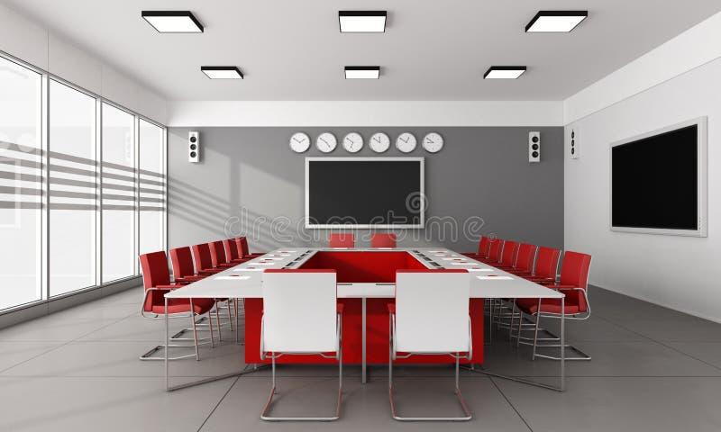 Salle du conseil d'administration minimaliste illustration de vecteur
