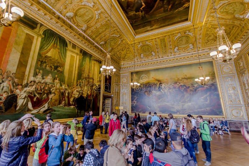 Salle du Sacre, дворец Версаль, Париж, Франция стоковые фото