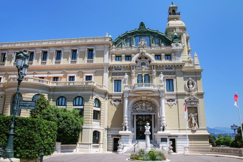 Salle Garnier - à la maison de l'opéra De Monte Carlo au Monaco photo stock