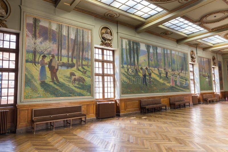 Salle Henri Мартин в Capitole de Toulose стоковое изображение