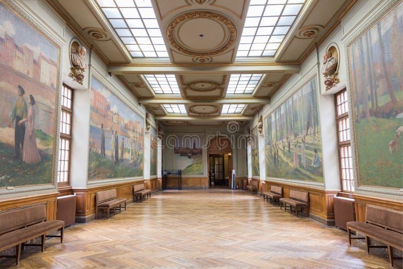 Salle Henri Мартин в Capitole de Toulose стоковые фото