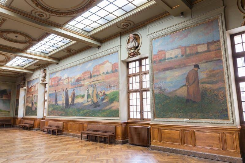 Salle Henri Мартин в Capitole de Toulose стоковые изображения