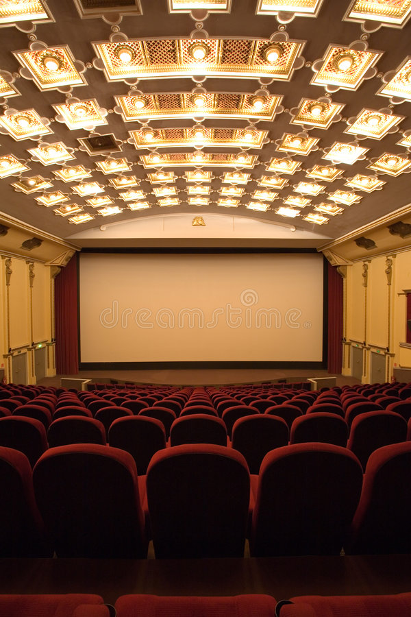 Salle vide de cinéma photos libres de droits