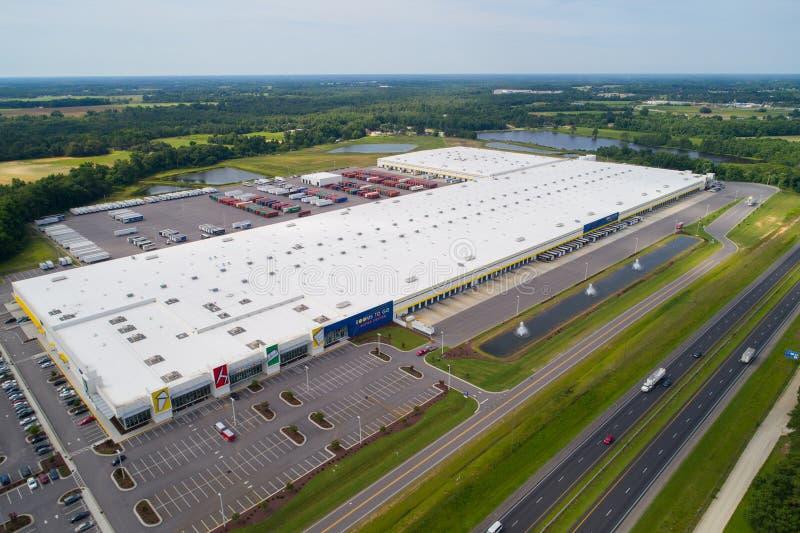 Salles aériennes d'image d'aller supercenter Dunn OR, Etats-Unis photos libres de droits