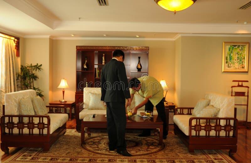 Salles de Stylisch dans la suite présidentielle légendaire de Rex Hotel dedans image stock