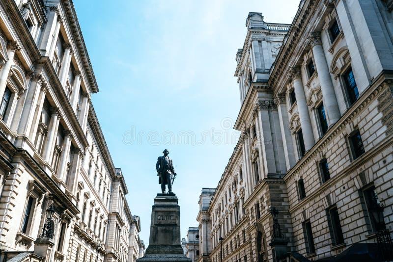 Salles 'op?rations renseignement' et Robert Clive Memorial de Churchill ? Londres images libres de droits