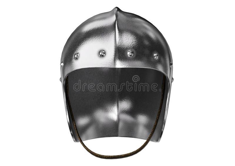 Medieval Knight Sallet Helmet Stock Illustration