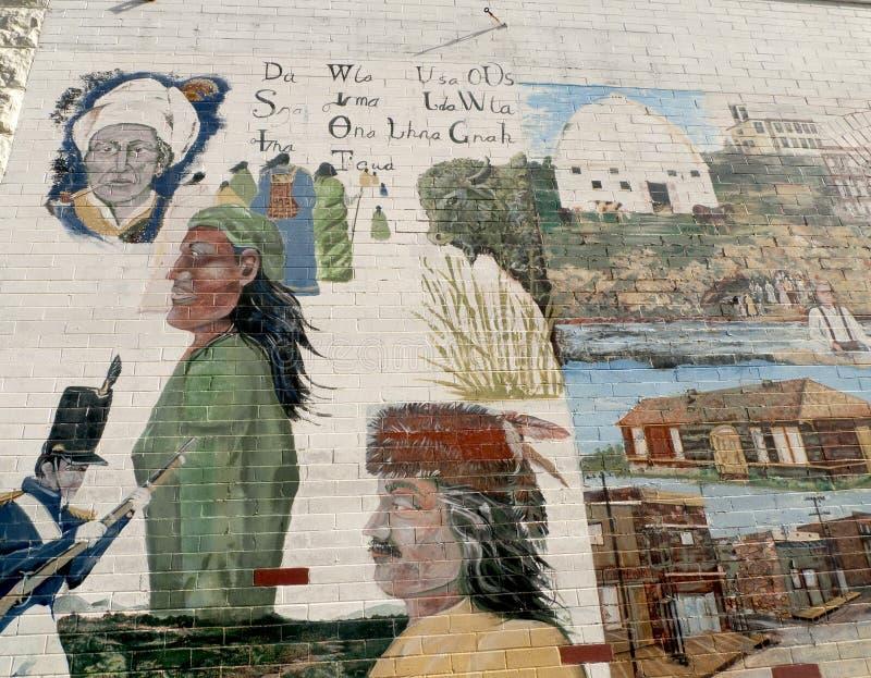 Sallisaw, O.K. geschiedenismuurschildering, Cherokee Weg royalty-vrije stock afbeeldingen
