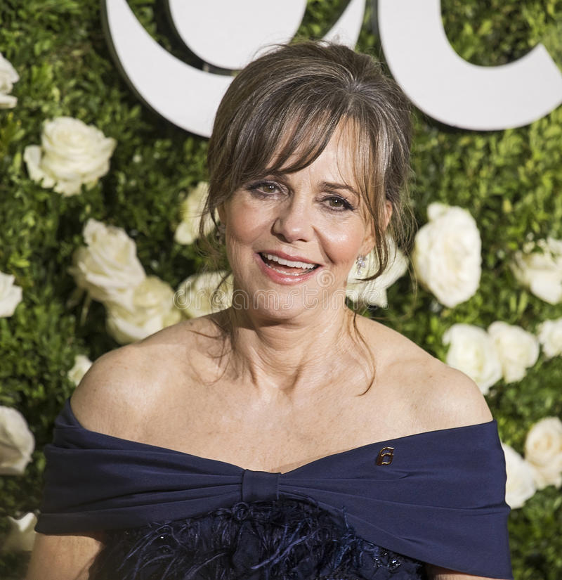 Sally Field. Actress Sally Field arrives at the 71st Annual Tony Awards at Radio City Music Hall, on June 11, 2017. The Oscar winning actress was nominated stock image
