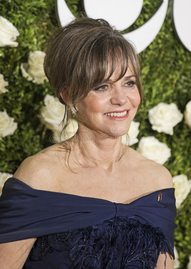 Sally Field. Glamorous actress Sally Field arrives on the red carpet at Radio City Music Hall for the 71st Annual Tony Awards celebrating excellence in Broadway royalty free stock photography