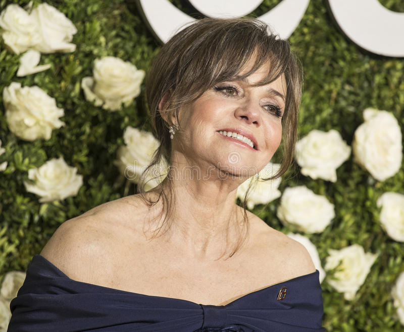 Sally Field. Glamorous actress Sally Field arrives on the red carpet at Radio City Music Hall for the 71st Annual Tony Awards celebrating excellence in Broadway stock image
