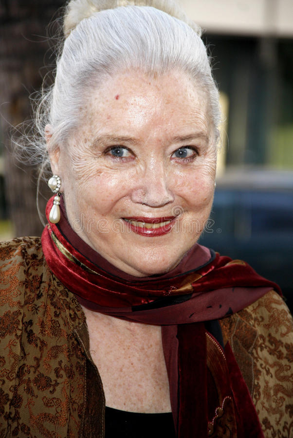 Sally Kirkland. At the Los Angeles premiere of Blue Jasmine held at the AMPAS Samuel Goldwyn Theater in Los Angeles, United States, 240713 royalty free stock image