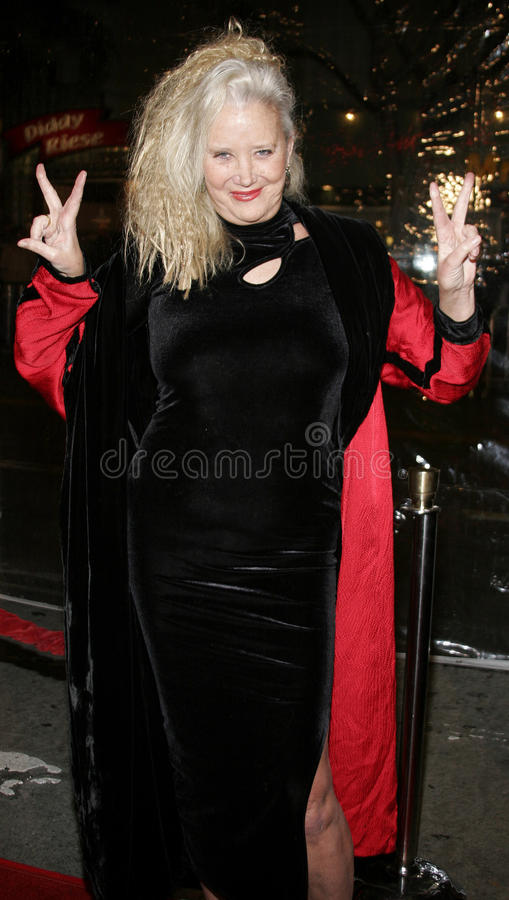 Sally Kirkland. WESTWOOD, CALIFORNIA. Thursday January 4, 2007. Sally Kirkland attends the Los Angeles of `Freedom Writers` held at the Mann Village Theater in stock photography