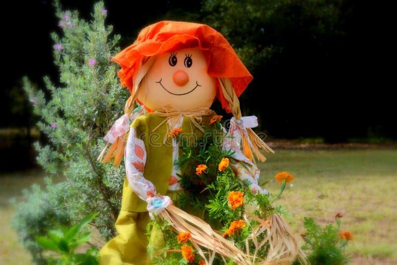 Sally Scarecrow sonhadora imagem de stock royalty free
