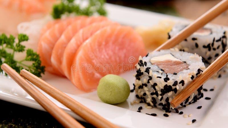 Salmão fumado, culinária, prato, Sashimi fotos de stock royalty free