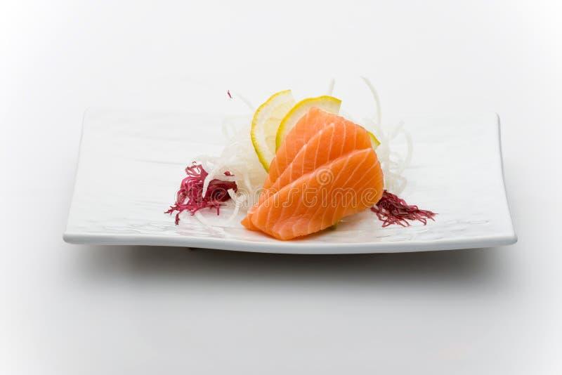 Salmões sashimy fotos de stock
