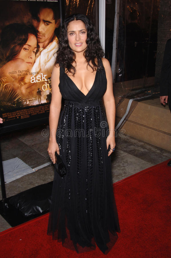 Download Salma Hayek editorial stock image. Image of premiere - 25588349