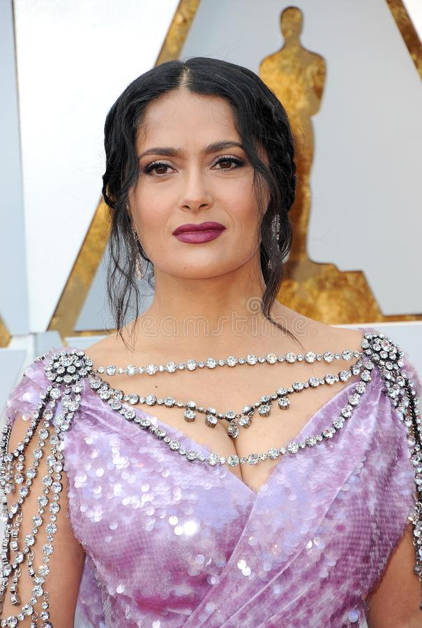 Salma Hayek. At the 90th Annual Academy Awards held at the Dolby Theatre in Hollywood, USA on March 4, 2018 royalty free stock photography