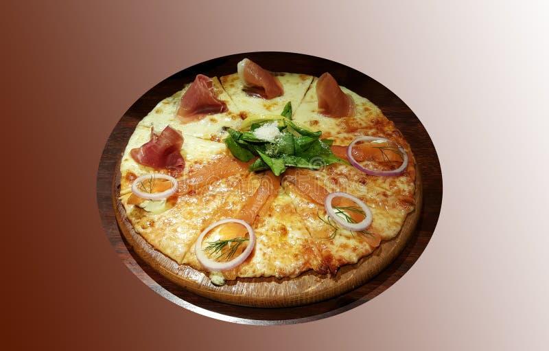 Download Salmaon Del Humo Y Pizza Del Jamón De Parma Imagen de archivo - Imagen de delicioso, empanada: 64202577