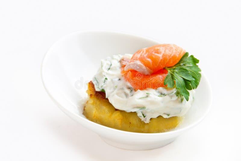 Salmon закуска стоковая фотография rf