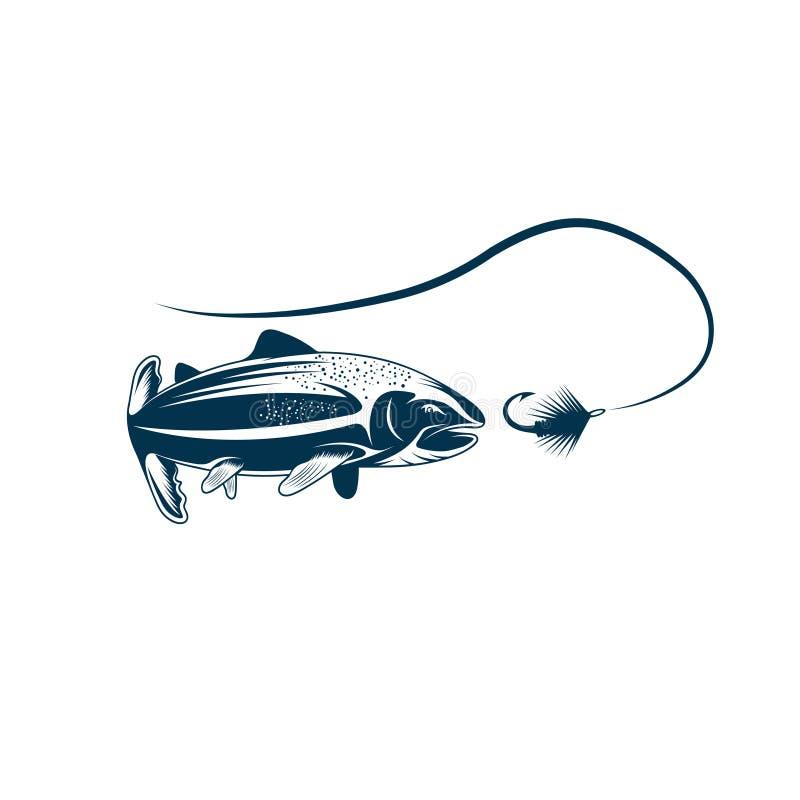 Salmon дизайн вектора рыб и прикорма иллюстрация штока