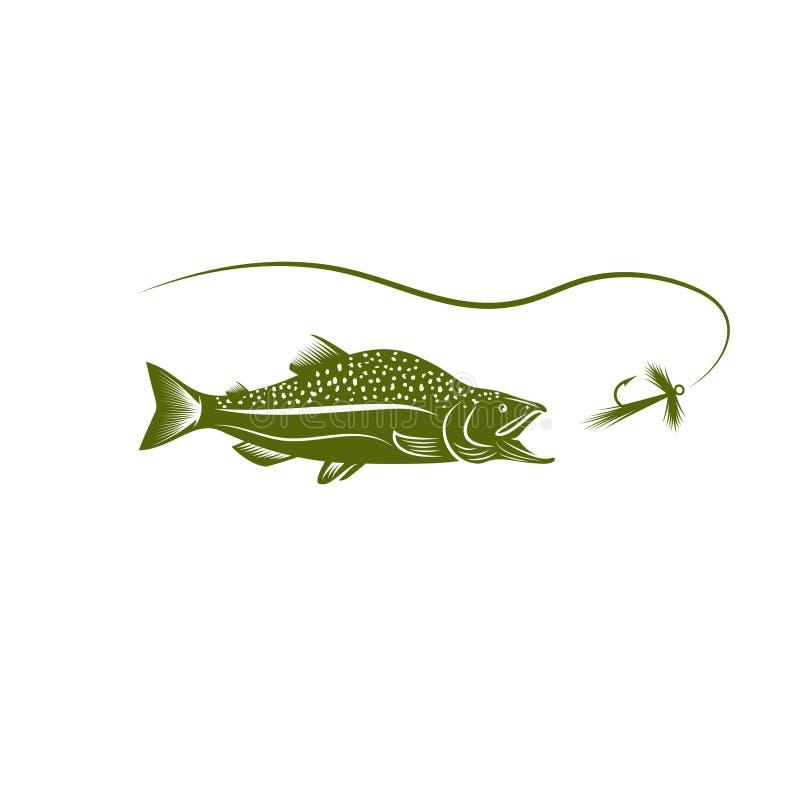 Salmon дизайн вектора рыб и прикорма иллюстрация вектора