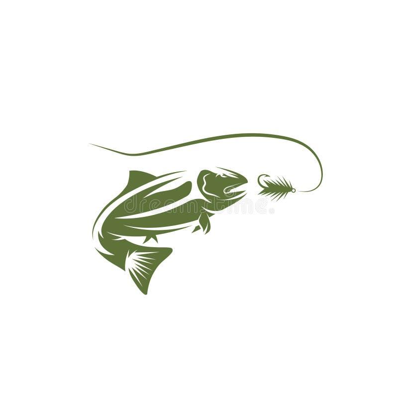 Salmon дизайн вектора рыб и прикорма бесплатная иллюстрация
