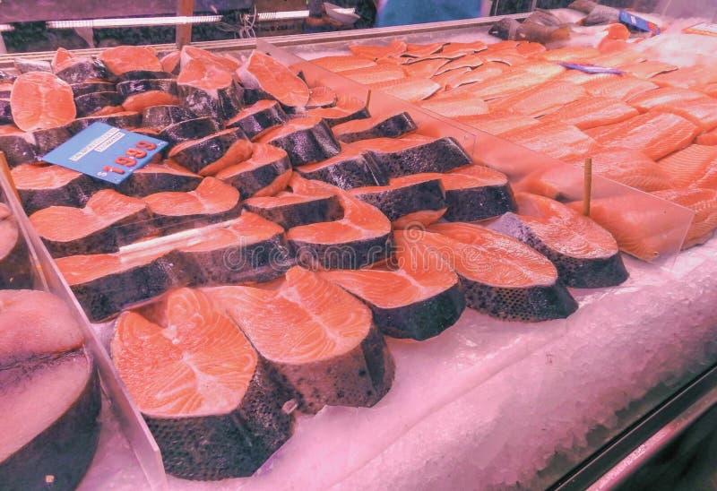 Salmon котлеты и филе стоковое изображение rf