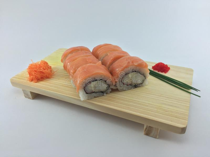 Salmon крен суш стоковое фото rf