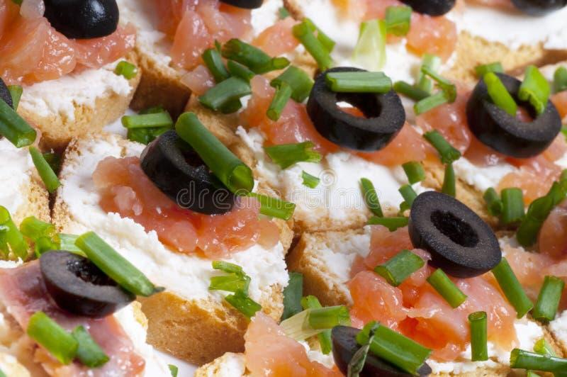 salmon курят сандвич, котор стоковое изображение