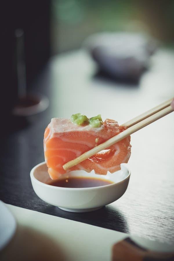 Salmon сасими стоковые фотографии rf
