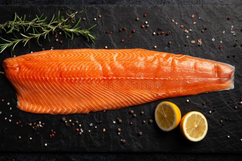 Salmon филе рыб стоковое изображение