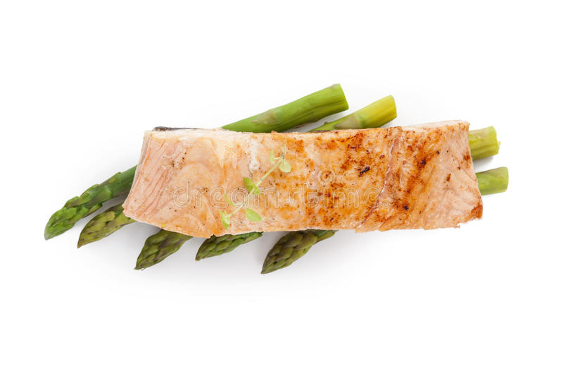 Salmon часть. стоковое изображение