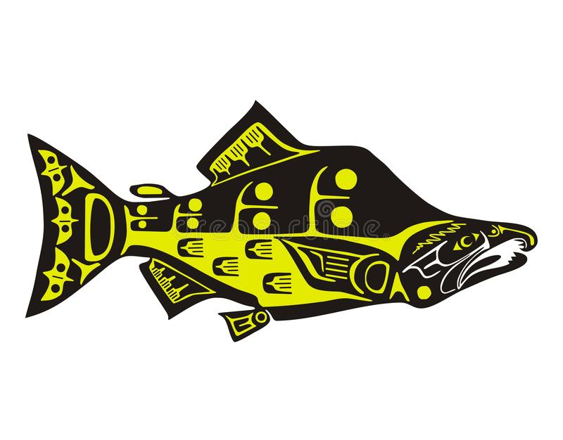Salmon royalty free illustration