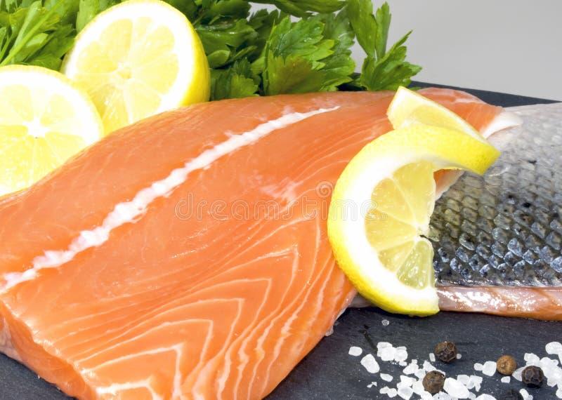 Download Salmon stock photo. Image of lemon, parsley, colour, fresh - 13541850