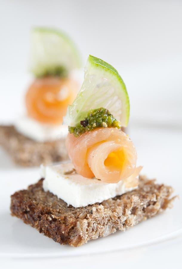 Salmon Appetizer Royalty Free Stock Image