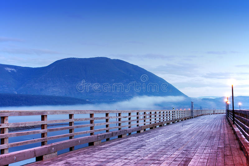 Salmon Arm, Canada. Wharf on Shuswap lake,Salmon Arm,Canada royalty free stock image