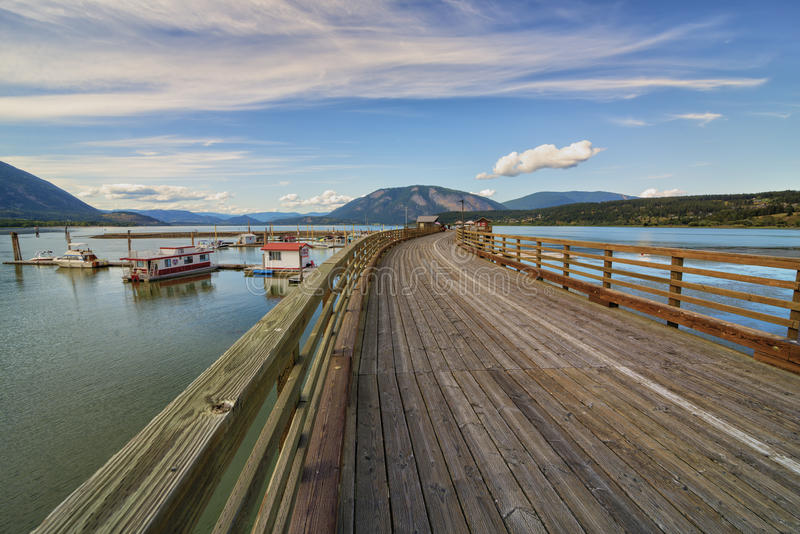 Salmon Arm Wharf. On a sunny day in summer, located in British Columbia Canada royalty free stock images