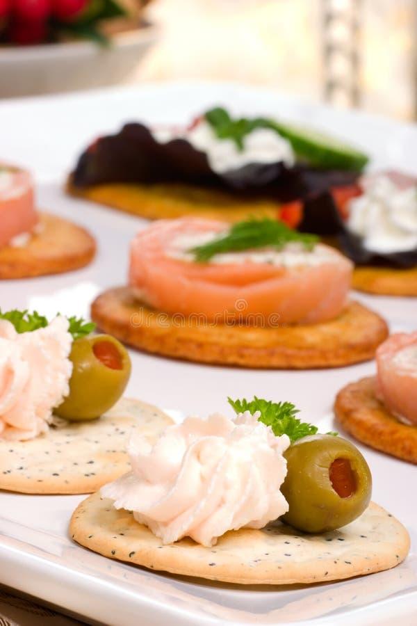 Download Salmon cheese canape stock photo. Image of organic, prepared - 5889174