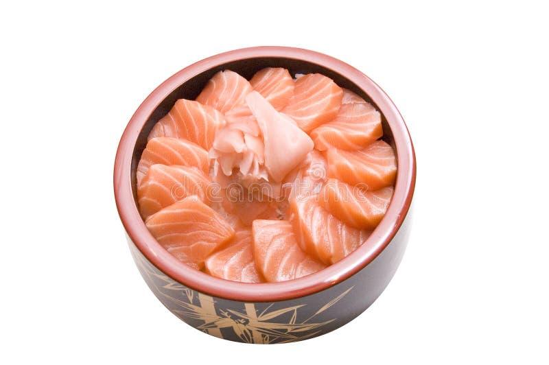 Salmon chirashi stock photos
