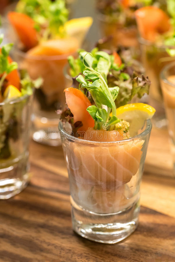Salmon Coctail stock photography